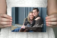 DIY printable vintage photo save the date postcard - Isobel & Ben.