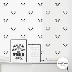 Vinilos decorativos con forma de Pandas #vinilos #decorativos #infantiles #trama #deco #decoracion #vinilodecorte #corte #pared #panda #transfer