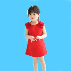 Browse our website for various children's girldresses, cute little girl dresses and red dresses for toddlers. Different kinds of patterns and choices of  Drop Shipping 2015 Hot Sale 1pcs Kids Girls Children(2~7Years) Dress Sleeveless O-Neck Chiffon Party Dress Gfit Red Cute Clothes are now providing by qqq799956998.