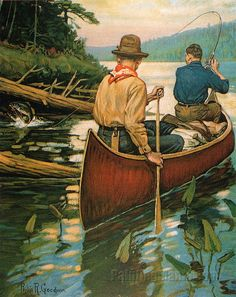 Canoe, Rowing, River by Philip Goodwin