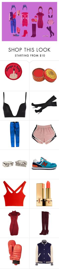 """""""Untitled #119"""" by jack-rabbit ❤ liked on Polyvore featuring Patch Ya Later, Wonderbra, Christian Louboutin, Paige Denim, Gypsy Warrior, New Balance, T By Alexander Wang, Yves Saint Laurent, Hestra and Marc Jacobs"""