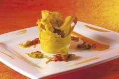 Martedì con lo Chef: La ricetta - Lasagnetta croccante con ragù di fassona di Igles Corelli
