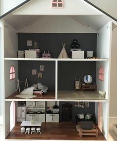 #dollhouse is almost finished ahhhh what will I do next.... Don't worry already have my next project lined up  #dollhousereno #dollhouserenovation #dollhousefurniture #handmade #love #dollhouseminiatures