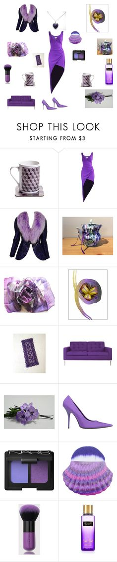"""""""Purple Haze Gifts for her"""" by einder ❤ liked on Polyvore featuring byblos, Adolfo, Somette, Balenciaga, NARS Cosmetics and Victoria's Secret"""