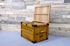LARGE Vintage Wood Crate Bread Shipping Crate by ScoutandForge This with glass on the top or without would make a great coffee table