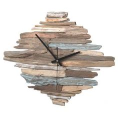 "Numberless washed driftwood wall clock.    Product: ClockConstruction Material: WoodColor: MultiAccommodates: Batteries - not includedDimensions: 11"" H x 16"" W x 2"" D"
