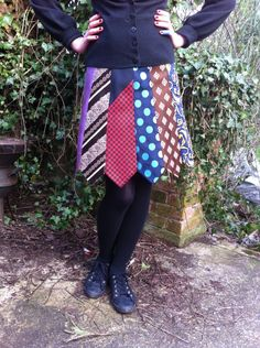 best idea for old ties ever! Cute for a little girl!