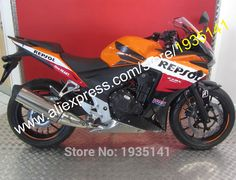 Hot Sales,Body Kit For Honda CBR500R 2013 2014 CBR 500 R 13 14 CBR500 R Repsol Aftermarket Sportbike Fairing (Injection molding) #Affiliate