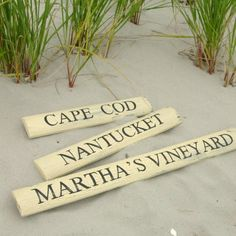 Martha's Vineyard Picket Sign by woodwords on Etsy, $28.00