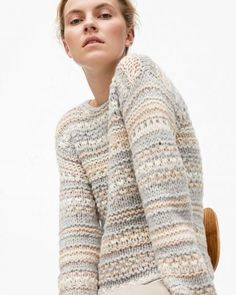 Knitwear Fashion, Knit Fashion, Crochet Shirt, Knit Crochet, Lace Dress With Sleeves, How To Purl Knit, Pullover, Knitting For Beginners, Diy Dress