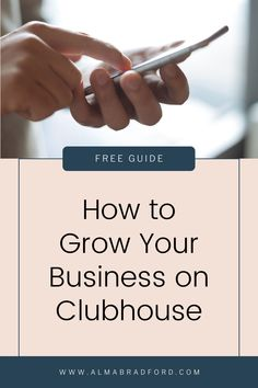 Did you know that you can use Clubhouse to get paying clients? Download this FREE guide to learn how to network effectively on the platform and convert followers into paying clients. Promote Your Business, Home Based Business, Growing Your Business, Business Ideas, Online Business, Social Media Content, Social Media Tips, Social Media Marketing, Pinterest For Business