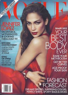 Vogue magazine Jennifer Lopez Your best body Kate Moss Fashion trends
