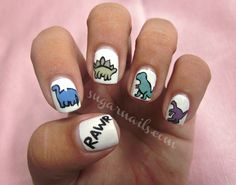 Daily Nail Art: Dinosaurs | Blog | FlauntMe