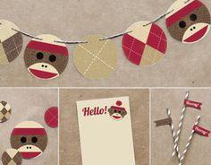 Sock Monkey Party Decor
