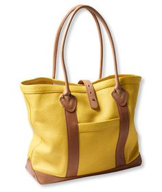 Women's Signature Heritage Leather Tote, Colorblock   Free Shipping at L.L.Bean