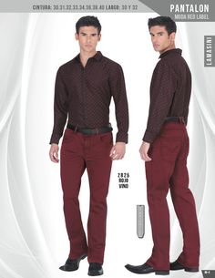 2825 Pantalon Caballero Lamasini Red Label