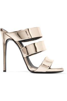 Giuseppe Zanotti - Mirrored-leather Sandals - Gold - IT