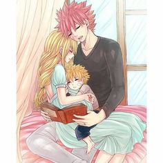Natsu and Lucy ❤️ Family