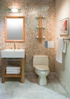 OTTAWA translucent glass.  Mix it with larger tile.  or use as border. Bathroom Gallery | Inspiration | The Tile Shop