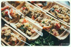wedding food: quinoa salad for vegetarians