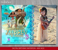 Moana Invitation - Disney Moana Invite - Moana Birthday Invitation - Disney Moana Birthday Party with photo