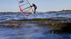 A man windsurfs at Mill Creek near Fort Monroe Saturday afternoon. (Photo by Jonathon Gruenke / Daily Press) The Virginian, Fort Monroe, Mill Creek, Hampton Roads, The Hamptons, Pictures, Photos, Grimm