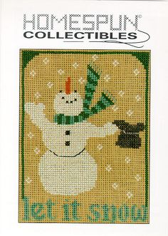 Homespun Collectibles Counted Cross Snowman 7 by straphaelwomen