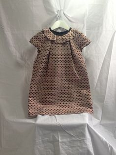 Hucklebones pink and black ruffle collar short sleeved dress — My Chelsea Wardrobe