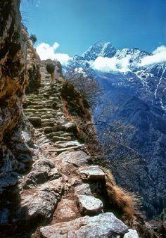 Escalier de l'Annapurna, Himalaya, Népal