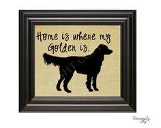 8x10 Golden Retriever Art Print  Custom by sincerelyally on Etsy, $14.00
