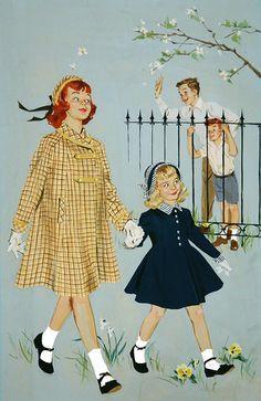 Lovely children's book illustration by Barbara Bradley - Pin Ups Vintage, Retro Vintage, Vintage Children's Books, Vintage Cards, Vintage Pictures, Vintage Images, Vintage Prints, Vintage Posters, Illustrations Vintage