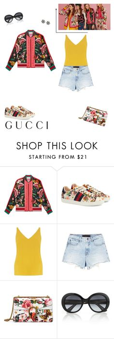 """""""Presenting the Gucci Garden Exclusive Collection: Contest Entry"""" by ila-rose ❤ liked on Polyvore featuring Gucci, Dorothy Perkins, Alexander Wang and gucci"""