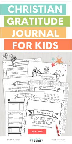 Kids Activity Gratitude Journal Created for Families with Christian values help your child cultivate an attitude of gratitude in a fun and creative way!You're doing your best to raise decent humans Positive Parenting Solutions, Mindful Parenting, Gentle Parenting, Parenting Tips, Raising Godly Children, Prayers For Children, Christian Kids, Christian Families, Mindful Activities For Kids