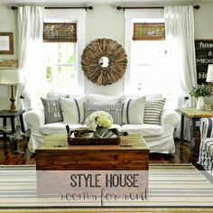Farmhouse style curtains style house rooms for rent city farmhouse farmhouse style curtains decorating country farmhouse style curtains white farmhouse Living Room Colors, Living Room Sets, Home Living Room, Living Room Decor, Tumblr Posts, Farmhouse Style Curtains, City Farmhouse, Country Farmhouse, Farmhouse Living Room Furniture
