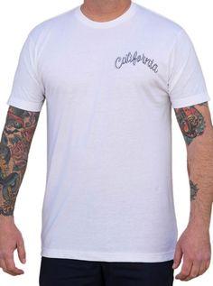 "Men's ""California"" Tee by Lowbrow Art Company (B/W) | Inked Shop"