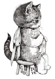 Drawing ideas animals kitty ideas for 2019 - cat art - Katzen I Love Cats, Crazy Cats, Cute Cats, Funny Cats, Cat Drawing, Drawing Ideas, Vintage Cat, Art And Illustration, Cat Art