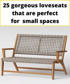 Acacia wood piece and caro style weaving rope loveseat for your patio or your interior