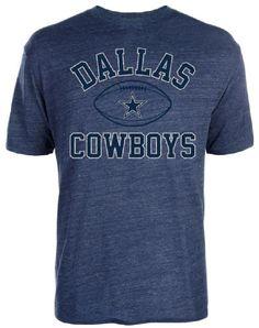 Dallas Cowboys Mens Heather Blue Tri-Blend Archie Short Sleeve T Shirt $27.95
