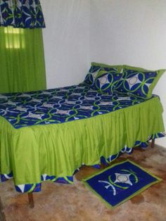 Fold Bed Sheets, Bedroom Sets, Bedroom Decor, Bed Cover Design, Designer Bed Sheets, Dining Chair Covers, African Home Decor, Bed Covers, Soft Furnishings