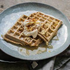 🍴Skořicové vafle s kefírem recept – rychle, zdravě a jednoduše 🍴 Jimezdrave.cz Kefir, Tasty, Breakfast, Health, Sweet, Fitness, Recipes, Být Fit, Food