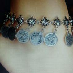 ETHNIC FLOWER COIN PENDANT ANKLET. ETHNIC FLOWER COIN PENDANT ANKLET Jewelry Bracelets