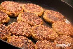 Quinoa-Frikadellen vegan und glutenfrei | kochtrotz - Rezepte für Gluten-Unverträglichkeit, Fructose-Intoleranz, Laktose-Intoleranz, Histamin-Intoleranz, Zöliakie, Sorbit-Intoleranz, jetzt auch vegan und sojafrei