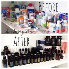 Makeover your medicine cabinet! Replace with ALL NATURAL essential oils.