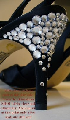 DIY Sexy Rhinestone Heels - the basic shoe is from PAYLESS! I wanna decorate shoes! Up Shoes, Me Too Shoes, Girly Stuff, Girly Things, Decorate Shoes, Shoe Makeover, Everyday Casual Outfits, Witch Shoes, Diy Mode
