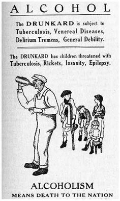 Prohibition Posters » Sociological Images--note how the drinker looks black, but the kids look white