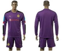 Dortmund Blank Purple Long Sleeves Goalkeeper Soccer Club Jersey