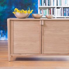Willis and Gambier Oak Sideboard - Comes with natural wood finish with blond tones. Give a contemporary and sophisticated feel.  #Sideboard #OakSideBoard #ContemporaryFurniture