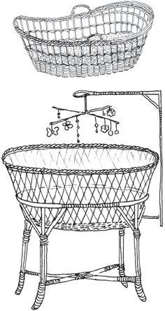 Плетеная мебель / Плетение из соломки и других материалов Barbie Furniture, Wicker Furniture, Storage Baskets, Bassinet, Rattan, Weaving, Miniatures, Nursery, Diy
