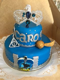 Ravenclawcake My sons Ravenclaw Birthday cake yes Pinterest