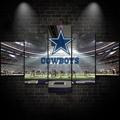 Awesome ManCave Dallas Cowboys canvas for Bar Wall Art Swag 5 Panel Modular Picture NFL Sports Modern Home Wall Decor Football Picture Art HD Printed Paintin. Dallas Cowboys Room, Dallas Cowboys Images, Football Rooms, Cowboys Football, Cowboy Home Decor, Theater Room Decor, Cowboy Room, Cowboy Images, Home Decor Sets